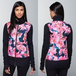 RARE Lululemon Nice Asana Jacket Secret Garden